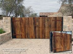 Custom Automatic Gates Suitable for Your Tuscan Style Home mediterranean exterior