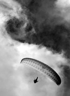 Paraglider, Black and White