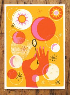 shine brite zamorano: collage art lesson for K. Draw the hand and wand, cut and glue circles. add details