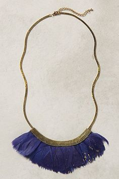 Fanned Feather Necklace - anthropologie.com #anthroregistry