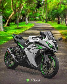 Kawasaki Ninja 300, Kawasaki Motorcycles, Cool Motorcycles, Triumph Motorcycles, Motorcross Bike, Motorcycle Bike, Motorcycle Jackets, Beste Iphone Wallpaper, Ninja Bike