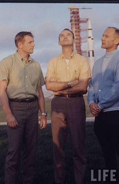 Neil Armstrong, Michael Collins and Buzz Aldrin, Apollo 11 - LIFE magazine