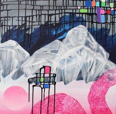 Contemporary Art Painting Abstract Landscape by PithAndRootStudio
