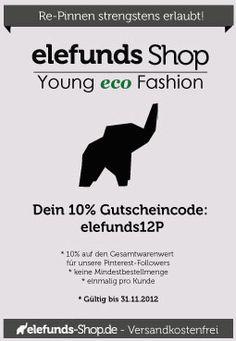 #Gutschein www.elefunds-shop.de