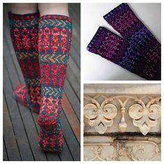 Ravelry: Taj Mahal Slipper Socks pattern by Cate Carter-Evans