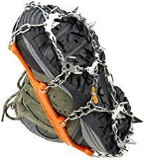 Uelfbaby microspikes: Winter traction device, hiking safety gear for snow and ice, add to your winter hiking boots or shoes