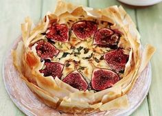 A savoury tart offset by sweet figs – perfect for lunch or as a starter