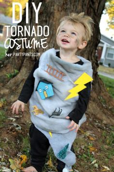 Make a creative and affordable tornado costume for any age! Cute Group Halloween Costumes, Diy Halloween Costumes For Kids, Boy Costumes, Baby Halloween, Halloween Outfits, Costume For Kids, Costume Ideas, Halloween Havoc, Halloween Movies