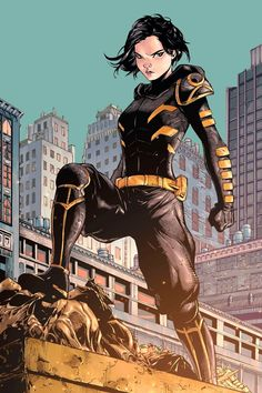 Black Bat (Cassandra Cain) in Gotham nach dem großen Erdbeben Comic Book Characters, Comic Character, Comic Books Art, Comic Art, Book Art, Dc Batgirl, Batwoman, Nightwing, Tim Drake