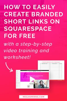 Want to create branded short links on your Squarespace site? In this video tutorial, Megan Minns is showing you how to do that quickly, easily, and for free! No code, no plugins, just Squarespace URL Mapping built right into your site! Watch the video training and get your FREE worksheet here >> http://meganminns.com/blog/branded-links-squarespace