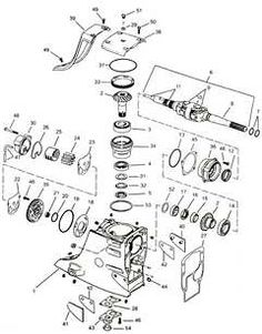 Mercury-Mariner Outboard Lower Unit, 3 cyl, 70-90 HP, 3