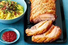 Balinese-style roast pork.  Crispy Christmas pork goes Asian with Marion Grasby. From Taste.com.au Magazine. http://www.taste.com.au/recipes/35625/balinese+style+roast+pork