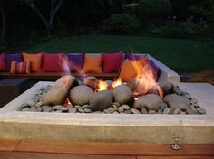 Cooler weather is coming! Learn how to make a DIY Outdoor Gas Fire Pit