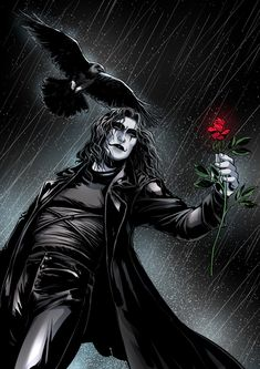 The crow one of my favorite movies it's so sad The Crow, Dark Fantasy Art, Dark Art, Crow Movie, Brandon Lee, Bruce Lee, Crow Art, Arte Dc Comics, Crows Ravens