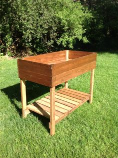 Raised Garden Bed Table with FREE Shipping by GingerMadeFurniture, $200.00