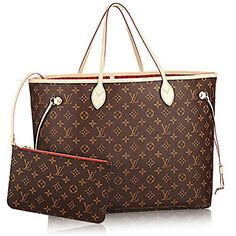 de5fb18d15c1 Authentic Louis Vuitton Neverfull GM Monogram Canvas Cherry Handbag  Article M41179