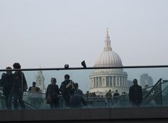 A perspective of the #London from #TateModern. #MillenniumBridge #StPauls #UK #Travel // © 2015 TravelAge West/Melissa Karlin