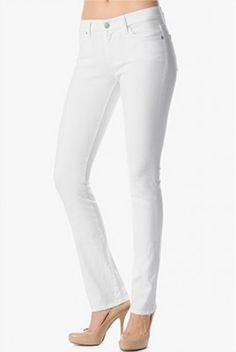 Jeans Seven 7 For All Mankind Kimmie Contour Straight Leg in Clean White #Seven 7 For#Jeans