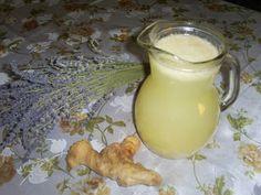 Retete cu margareta cismasiu: Limonada cu ghimbir Glass Of Milk, Drinks, Food, Drinking, Beverages, Essen, Drink, Meals, Yemek