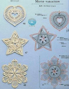 Hairpin lace motifs