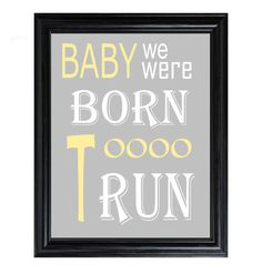 Items similar to BORN to RUN Bruce Springsteen print song lyrics on Etsy Lyric Art, Music Lyrics, Music Quotes, Elvis Presley, Very Inspirational Quotes, The Boss Bruce, Rock Quotes, Play That Funky Music, Classic Rock And Roll