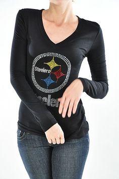 d4d0de0b New Long Sleeve Pittsburgh Steelers Long Sleeve Women's Top - SZ XXXLarge  #Unbranded #KnitTop