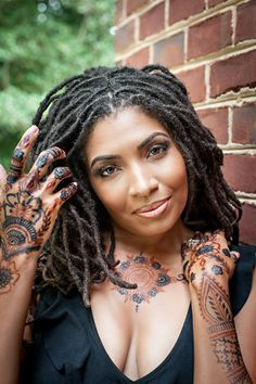 c1faf612d Henna and Jagua body art for Denise aka @loccrush Henna Hair Dyes, Dyed Hair