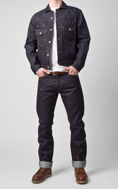 Stevenson Overall Co. Love Jeans, Jeans And Boots, Stevenson Overall, Man Fashion, Fashion Outfits, Spring Ahead, Raw Denim, Denim Jackets, Denim Outfit