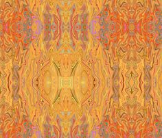 Treasures of Golden Tones Abstract fabric by luv2silkpaint on Spoonflower - custom fabric