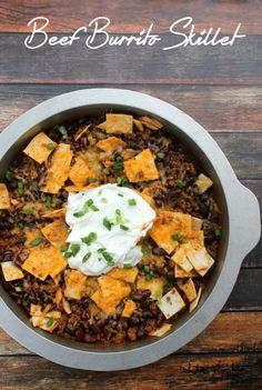 Beef Burrito Skillet | White Lights on Wednesday