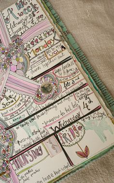 love this idea using one page a week for daily journaling