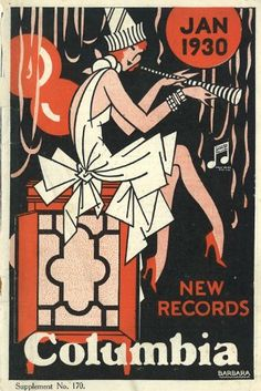 Columbia Records catalog supplement, January 1930 (cover art)