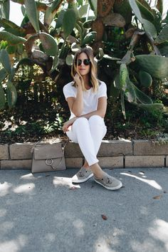 All White Summer Outfit with Nautica | www.TakeAim.nu