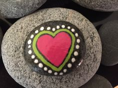Heart. Hand painted rock by Caroline. The Kindness Rocks Project Kindness Projects, Christmas Rock, Mandala Rocks, Kindness Rocks, Hand Painted Rocks, Rock Crafts, Learn To Paint, Summer Activities, Rock Painting