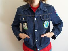 Vintage Distressed Rocker Denim Hipster Patches by FunkyOldSoul