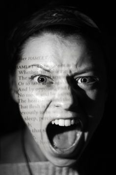 This photography displays the frustration that many dyslexics feel when they are bombarded with the written word.