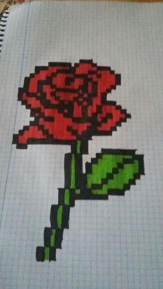 Rosa pixelada