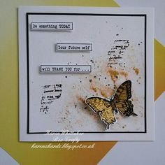 Butterfly from Birds and Butterflies stamp set by Bee Crafty Script, Something To Do, Stamping, Butterflies, Bee, Creativity, Birds, Crafty, Card Ideas