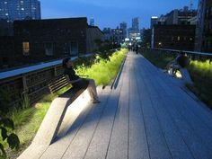 urban lighting, High Line, New York
