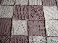 for knitters like me who get bored of a pattern easily. Make a swatch blanket!