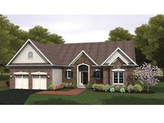 Ranch House Plan with 1881 Square Feet and 3 Bedrooms from Dream Home Source | House Plan Code DHSW075954