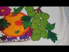 bordado de frutas - YouTube