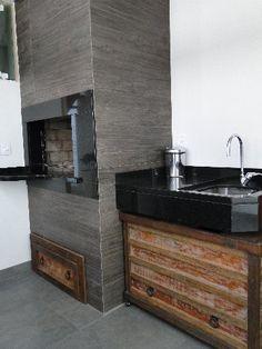 churrasqueiras revestidas de porcelanato - Pesquisa Google Bathroom Vanity, Bathroom, Decor, Lighted Bathroom Mirror, House, Home, Bathroom Mirror, Home Decor, Wood Stove