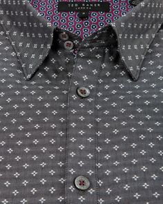 RICHGEO | Geo print shirt - Grey | Shirts | Ted Baker UK www.MadamPaloozaEmporium.com www.facebook.com/MadamPalooza