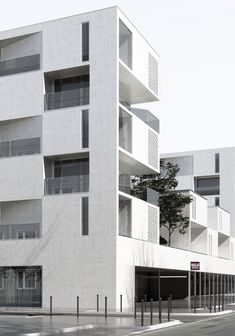Logements collectifs îlot Séguin / aum Architects #fachadasarquitectura