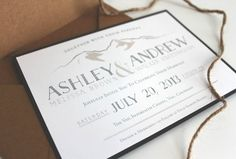 Personalized Rustic Mountain Wedding Invitation / Outdoor Wedding / Natural, Rustic, Vintage - SAMPLE on Etsy, $5.50