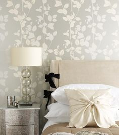 Papel de parede - quarto casal, decoração. Wallpaper master suite bedroom