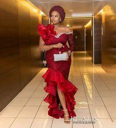 Nigerian Lace Styles Dress, Aso Ebi Lace Styles, Lace Gown Styles, African Lace Styles, African Wear Dresses, Latest African Fashion Dresses, African Print Fashion, African Attire, Ankara Styles