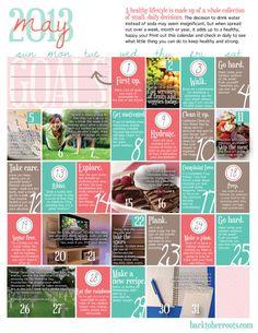 May 2013 Wellness Calendar