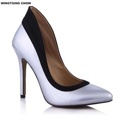 42.49$  Buy here - http://alif44.shopchina.info/go.php?t=32757127810 - Large Size 43 Patent Leather High Heels Shoes Woman Sexy Pointed Toe Elegance Women Shoes Pumps 12cm Ladies Shoes Office 42.49$ #magazineonlinebeautiful